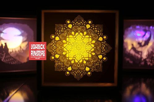 Bogo #141 Mandala Home Decorations 3d paper cut lightbox