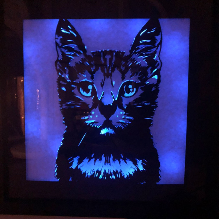 BOGO #82 I Love Cat (Resizable) Christmas svg, 3D Shadow box Template SVG files -3D Paper Cutting Light Box SVG Template files Cricut