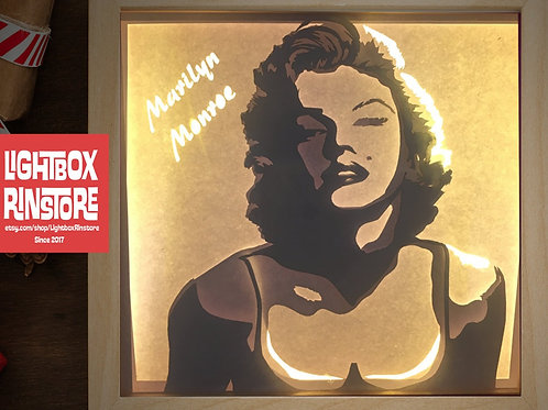 BOGO #110 Marilyn monroe svg, 3D Shadow box Template SVG fi