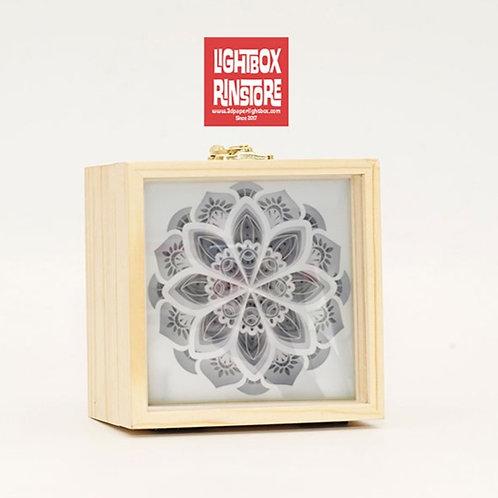 Mandala Paper Cut Lightbox Finished Product . Free ship to USA