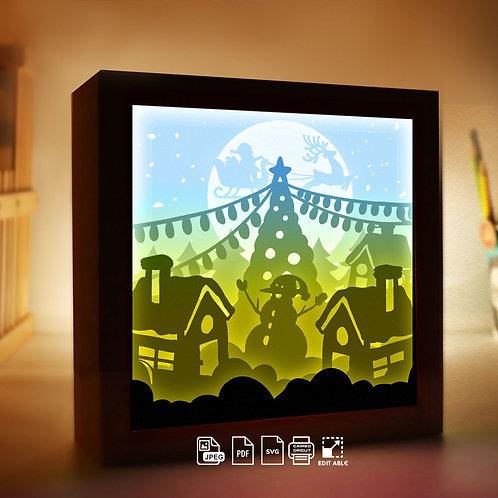 #203 Merry Christmas - Jesus svg, 3D Shadow box Template SVG files