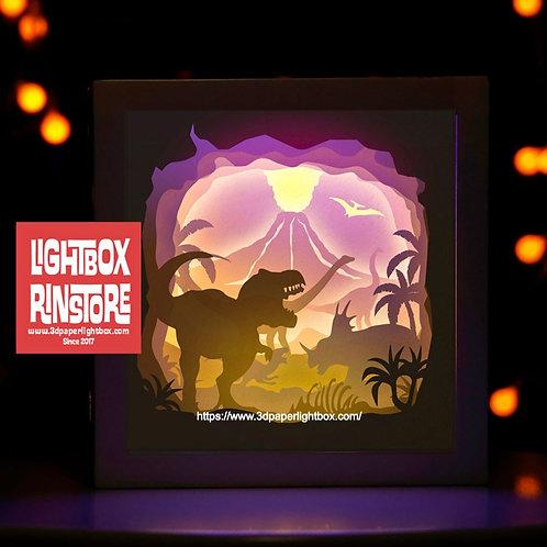 #46 Dinosaur svg, 3D Shadow box Template SVG files