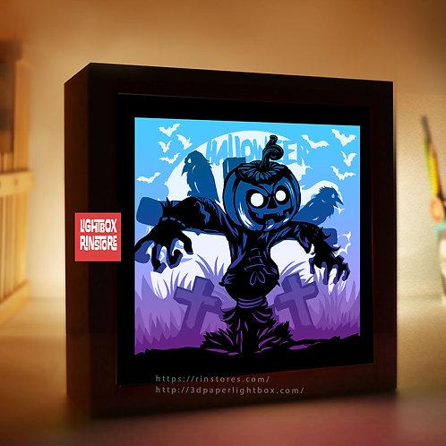 BOGO #191 Happy Halloween  svg, 3D Shadow box Template SVG files