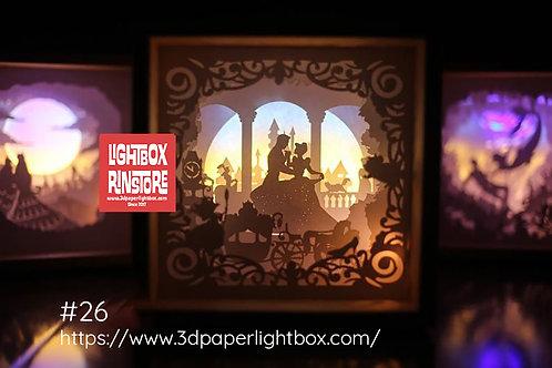 #26 Princess Fairy 3D Papercut lightbox Template SVG