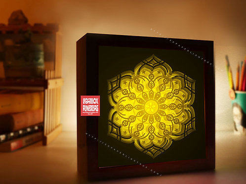 Bogo #181 Mandala Home Decorations 3d paper cut lightbox