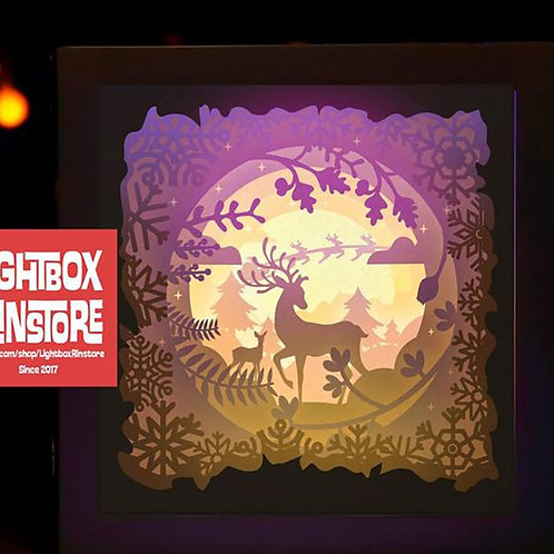 #9 Deer Spirit svg, 3D Shadow box Template SVG files