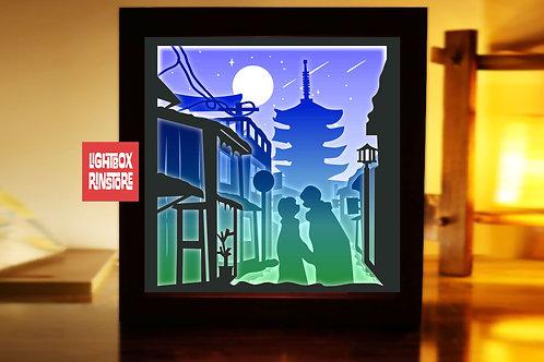 #209 Love in Japan  -Paper Lightbox Templates SVG 3d Lightbox