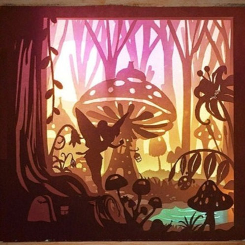 BOGO #73 Fairy 3D Shadow box Template SVG