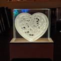 BOGO #47 Heart Robot (Resizable) Christmas svg, 3D Shadow box Template SVG files -3D Paper Cutting Light Box SVG Template files Cricut