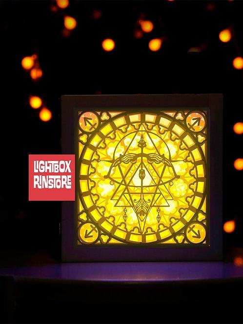 BOGO #88 SAGITTARIUS Zodiac Paper Lightbox Template SVG, 3D Shadow box Templ