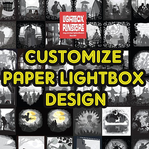 Customize lightbox Design for you only #15 - 3D Paper Cutting Light Box Template