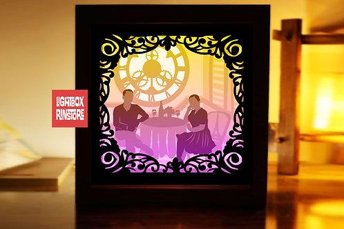 #210 Loving you -Paper Lightbox Templates SVG 3d Lightbox