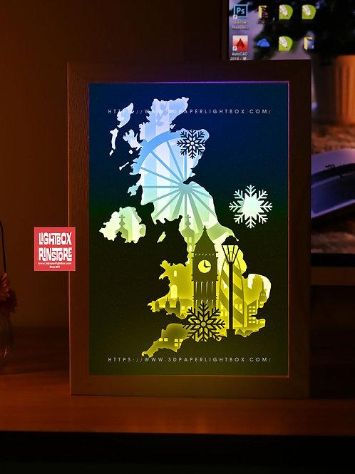 BOGO #185 London ,Papercut lightbox 3D Shadow box Template SVG