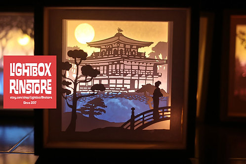 BOGO #76 Kinkakuji Temple svg,3D Shadow box Template SVG