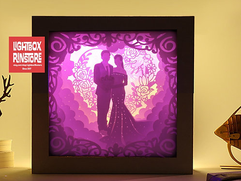 BOGO #54 Will you Marry me  - Paper Cutting Light Box Template