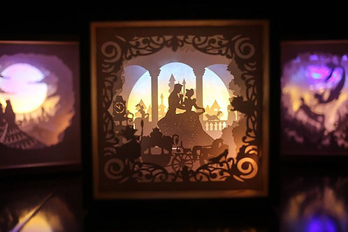 Princess Fairy Paper Cut Lightbox Finished Product . Free ship to USA -Lase