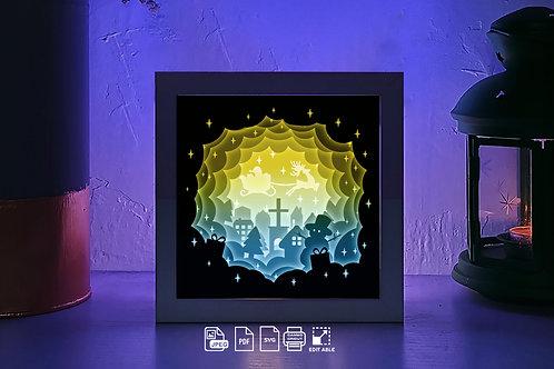 #215 Merry Christmas - Jesus svg, 3D Shadow box Template SVG files