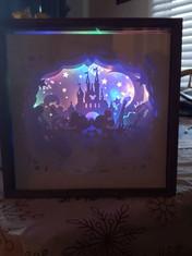 BOGO #10 I Love Mick3y M0use Christmas svg, 3D Shadow box Template SVG files -3D Paper Cutting Light Box SVG Template files Cricut