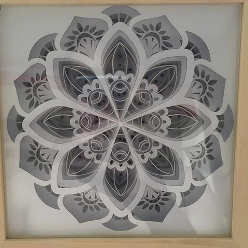 #184 Mandala v3 Home Decorations 3d paper cut lightbox