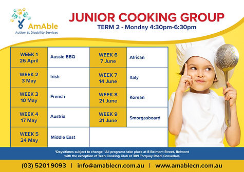 AmAble_Program Planner_Term2_Junior Cook