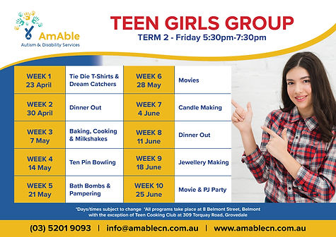 AmAble_Program Planner_Term2_Teen Girls.