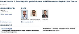 #EAU 20 - Poster Session 1 Andrology and genital cancers: Novelties surrounding that other Corona