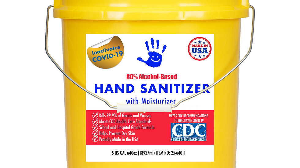 5 Gallon Bucket 80% Alcohol-Based Sanitizer