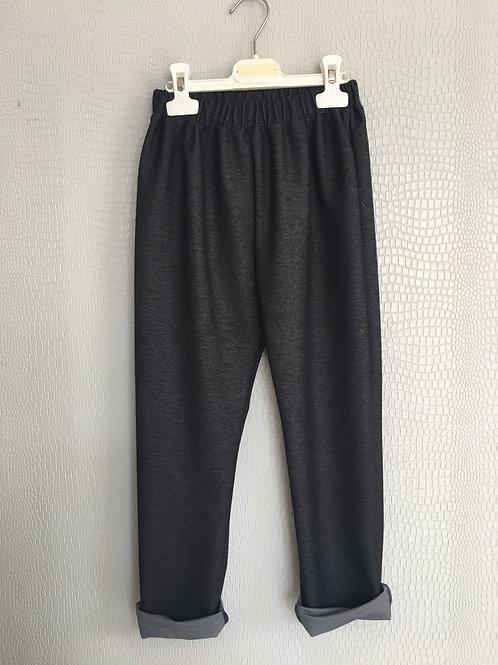 Panta felpa jeans nero