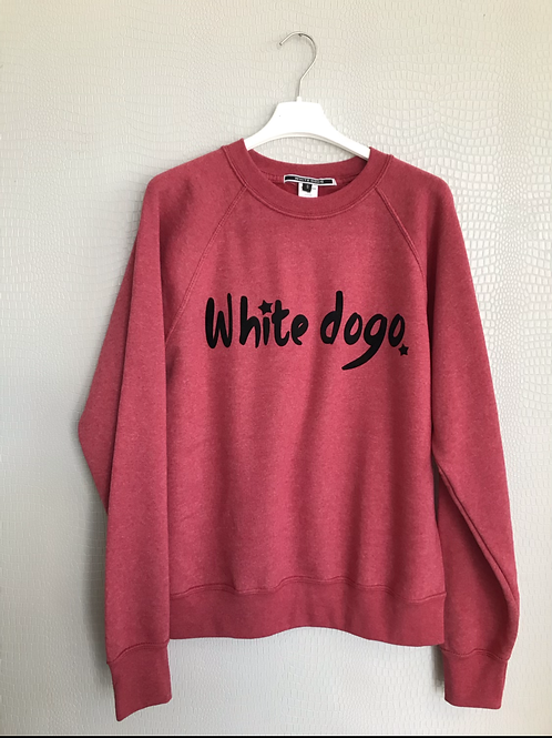 Felpa  adulto White dogo rosso melange