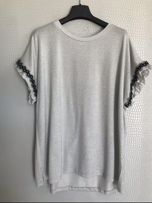 T-shirt super luccicosa argento