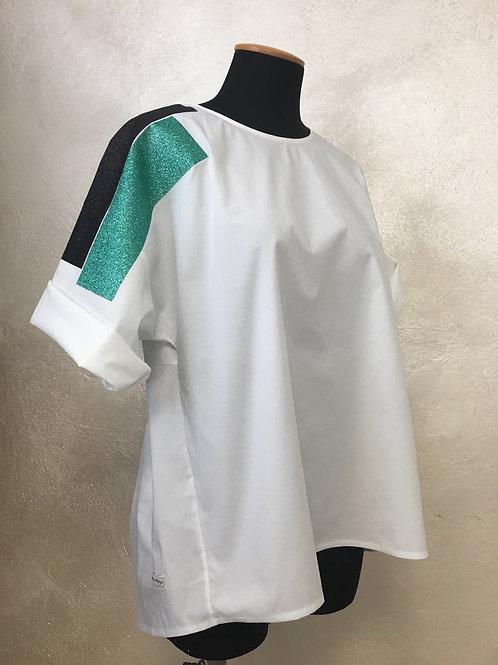 White -la blusa in cotone
