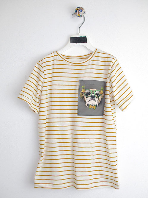 t-shirt Hawaii bulldog