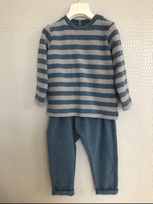 Completo jeans-grigio