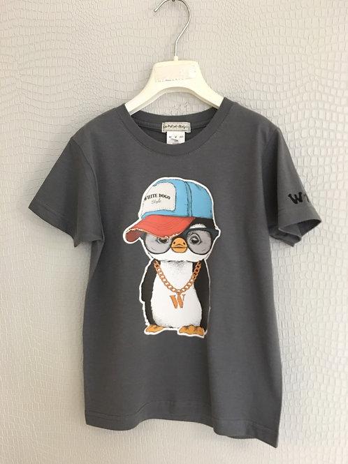 T-shirt pinguino hipster