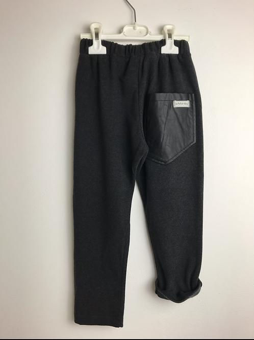Pantalone in caldo cotone antracite