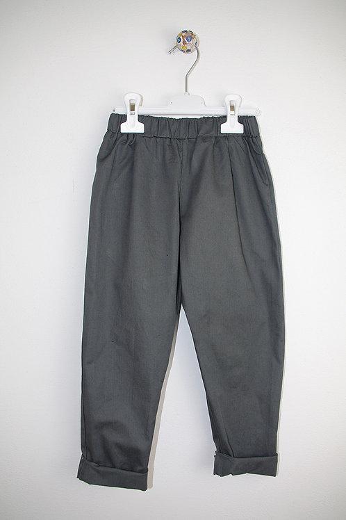Panta cotone grigio