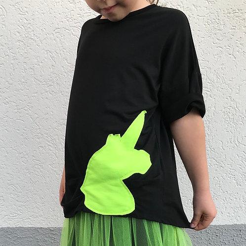 T-shirt unicorno fluo