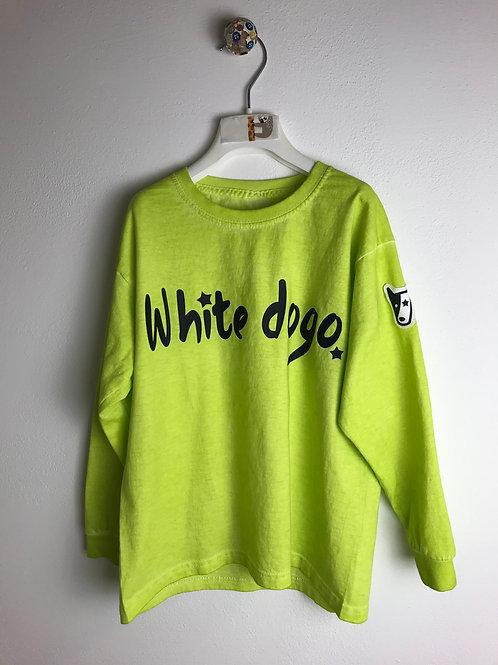 T-Shirt white dogo lime
