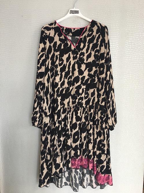 Abito fuxia Leopard
