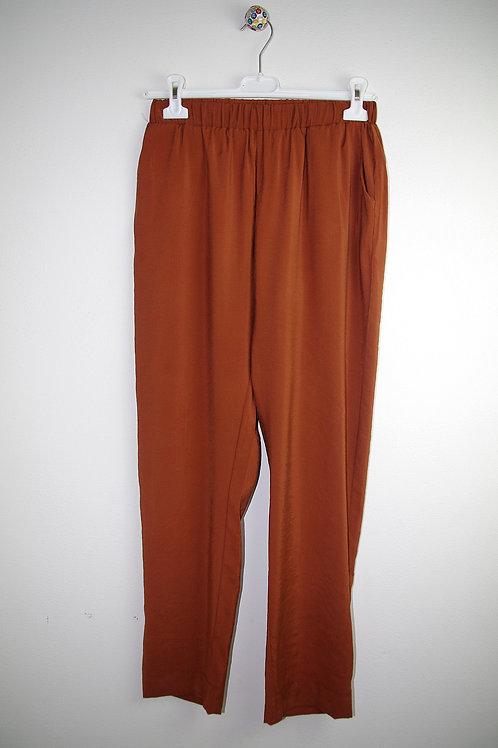 Pantaloni Cupro ruggine