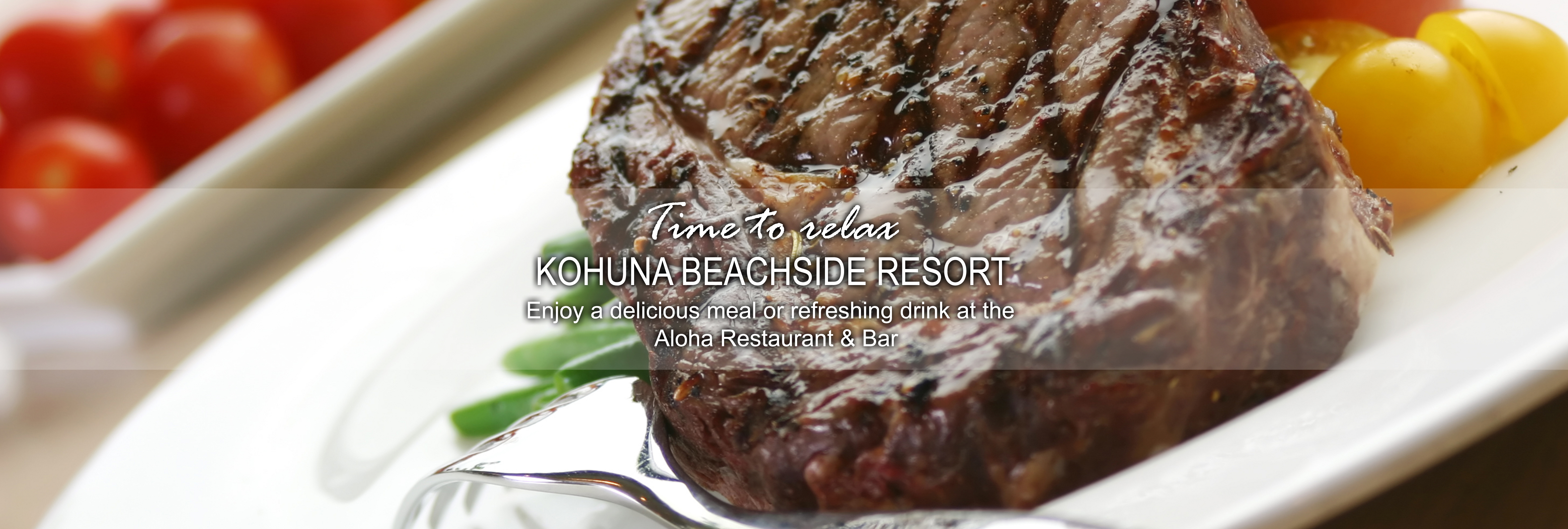 Kohuna beachside resort Food