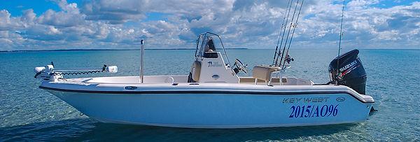 Keywest saltwater guide boat