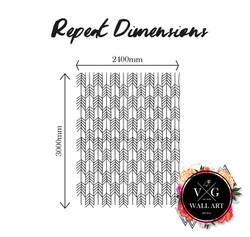 Repeat Dimensions_Monochrome Arrows