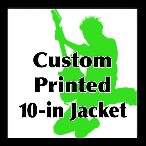 "10"" Custom Printed Cover Jackets QTY 1"