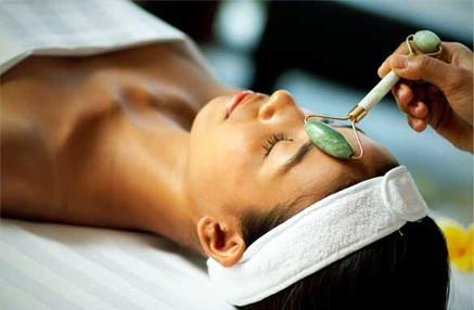 Jade roller facial massage