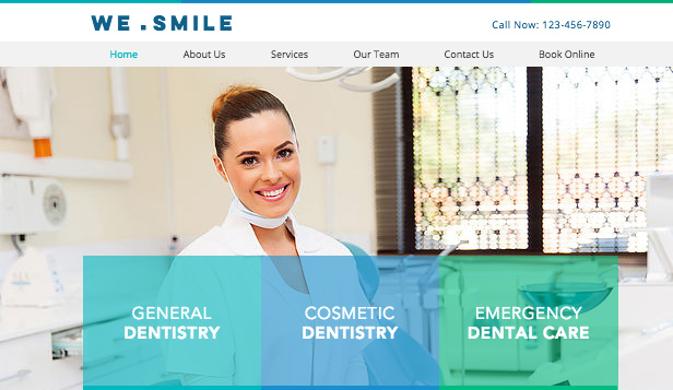Health & Wellness website templates – Dentist