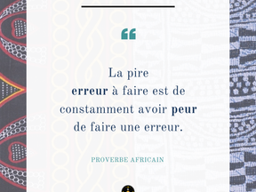 Monday Vibes – Proverbe Africain – Peur