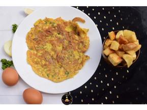 Recette de Manioc Frit avec Omelette