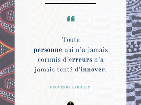 Monday Vibes – Proverbe Africain – Innover