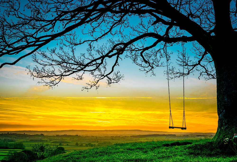 Burrow Hill, Sunset Swing By Cally Stephens, Picture Somerset, Photography exhibition, somerset cool, for every cloud, langport, Somerset blog